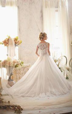 A-Linie Brosche Organza Prinzessin Hochzeitskleid mit Kapelle-Schleppe [#UD8651] - schoenebraut.com