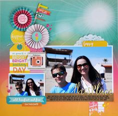 """""""This Place"""" scrapbooking process video by Jen Gallacher from www.jengallacher.com. #scrapbooking #jengallacher #scrapbookingprocess #scrapbooker"""