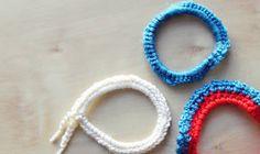 DIY: crocheted hair ties