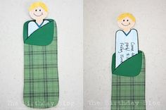 a boy in a sleeping bag invite how to for camping party