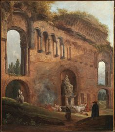 C.P. HUBERT ROBERT FRENCH, 1733–1808 ROMAN RUINS WITH LAUNDRESSES c. 1777 Oil on canvas The Clark Museum