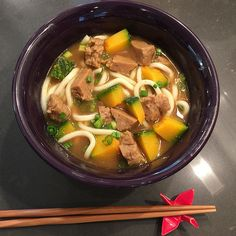 Japanese Curry Udon with Upton's Traditional Seitan and kabocha squash