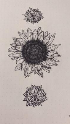 Sunflower line tattoo #tattoo