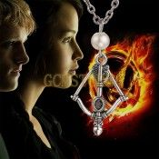 The Hunger Games Archer Womens Mens Bronze & Silver Pendant Necklace For Womens Mens