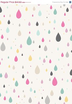 SOOO going in Holl's room!! SALE Raining Rainbows White Rain   1/2 Yard by uberstitch on Etsy, $3.83