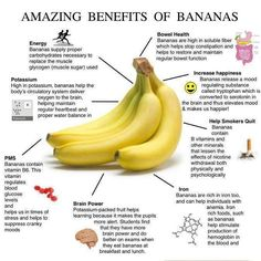 Benefits of Bananas. However, they are high in sugar, so eat only sometimes.