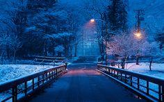 Snowy Night, Nikko, Japan