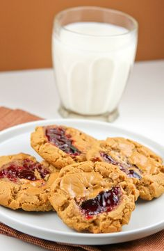 Jelly is the best thing to happen to a peanut butter cookie. Get the recipe from Pip & Ebby.   - Delish.com