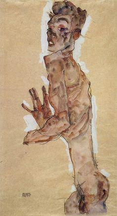 Egon Schiele Nude Self Portrait