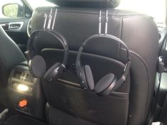 Car hooks from Clever Container.  For just $12 you can have a place to keep those headphones in your car. www.mycleverbiz.com/amycopsetta