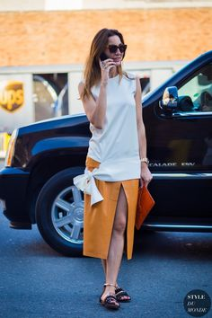 New York Fashion Week SS 2016 Street Style: Ece Sukan