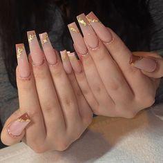 Acrylic Nails Coffin Pink, Classy Acrylic Nails, Square Acrylic Nails, Pink Acrylics, Drip Nails, Glow Nails, Bling Nails, Swag Nails, Glamour Nails