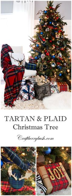 Michaels Makers The Preppy Tree – Plaids and Tartan (Craftberry Bush) Preppy Christmas, Tartan Christmas, Christmas Tree Themes, Merry Little Christmas, Noel Christmas, Green Christmas, Country Christmas, Winter Christmas, Christmas Island