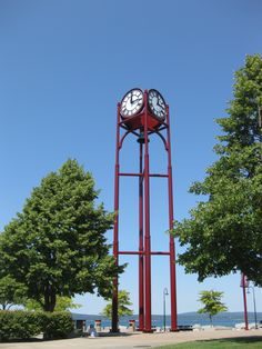 Petoskey, MI  Hey look, my hometown.. I've always hated that clock, it never tells the right time!