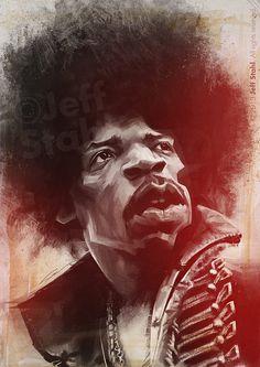 Jimmy Hendrix – Celebrity Caricatures – Jeff Stahl