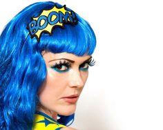 BOOM Headband, Yellow and Blue, Comic Inspired. £15.00, via Etsy.