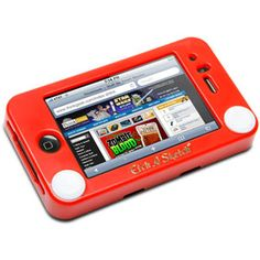 iPhone Etch-a-Sketch case. Works like a real Etch-a-Sketch if you turn on the related app! Oh nostalgia...