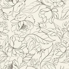 Papel de Parede Floral 1398