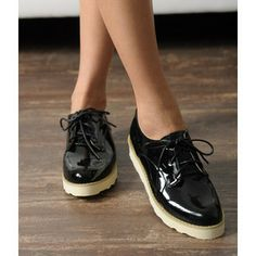 Buy 'yeswalker – Patent Platform Lace-Up Flats' with Free International Shipping at YesStyle.com. Browse and shop for thousands of Asian fashion items from Hong Kong and more!