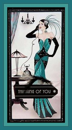 Art Deco Thinking of You