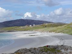 Prince's Beach, Eriskay--where Charles Edward Stuart landed on July 5,1745, after sailing from France