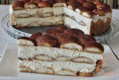 Házi tiramisu tortaformában
