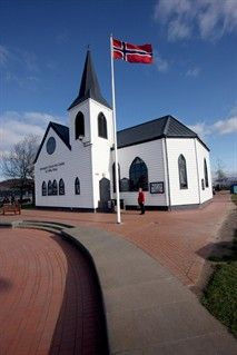 Norwegian  Sailors Church   Cardiff Bay just the place for a nice big cake!