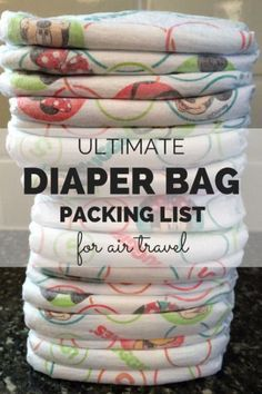 The Ultimate Diaper Bag Packing List for Air Travel Planning a flight with a baby or toddler? This diaper bag packing list for air travel has everything you need to be prepared. Plus a promotion from Huggies. Toddler Travel, Travel With Kids, Family Travel, Travel Tips With Baby, Baby On Plane, Flying With Kids, Flying With Infant, Airplane Travel, Thing 1