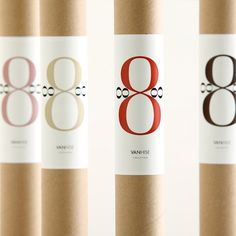 Bodoni  No.8 - silk scarf packaging, 100% recycled kraft tube