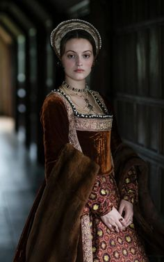 Katherine Howard costume for BBC's new show Six Wives with Lucy Worsley.