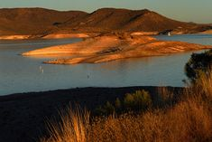 Lake Pleasant in AZ...just North of Phoenix...10,000 acres of water surface and 118 miles of shoreline.