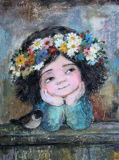 Portrait Art, Portraits, Naive Art, Angel Art, Medium Art, Fine Art Paper, Cute Art, Watercolor Art, Fantasy Art