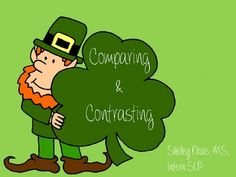 St. Patrick's Day Comparing and Contrasting Freebie!