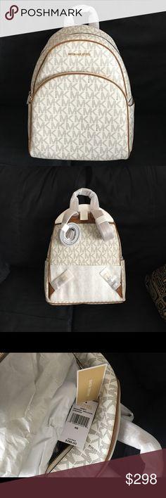 Large MK Abbey Backpack NWT vanilla/cream Large MK vanilla /cream Abbey Backpack  Brand New never used. Michael Kors Bags Backpacks