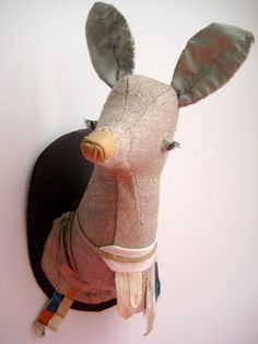 Astulabee deer trophy: linen gorgeousness from Nicole...love.