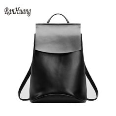 Luggage & Bags Women's Bags Xiyuan Brand Luxury 100% Pure Cow Genuine Leather Women National Floral Embroidery Bag Cool Backpacks For Teenage Girls Black Fashionable And Attractive Packages