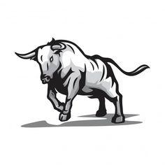 Wild bull vector Premium Vector | Premium Vector #Freepik #vector #logo #icon #character #cartoon Toro Vector, Taurus Logo, Taurus Bull Tattoos, Wild Bull, Lion Tattoo Design, Bull Logo, Best Gaming Wallpapers, Anime Wolf, Animal Logo