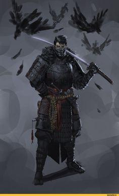 в комментах ещё,сделал сам,нарисовал сам, сфоткал сам, написал сам, придумал сам, перевел сам,нарисовал сам,моё,concept art,рисунок,Арт-клуб,разное,samurai,knight,Bounty Hunter,CG,скетчи,archer