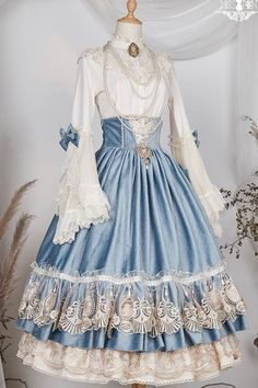 Elizabeth High Waist Skirt by Miss Point Pre-order ends on Pretty Outfits, Pretty Dresses, Beautiful Dresses, Kawaii Dress, Kawaii Clothes, Lolita Gothic, Dress For You, Old Fashion Dresses, Fantasy Gowns