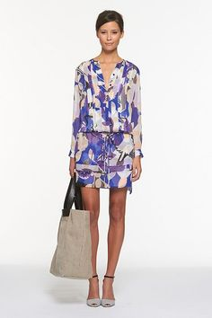 DVF strikes again with this beautiful dress for spring!  At $425...I have to make it  myself!