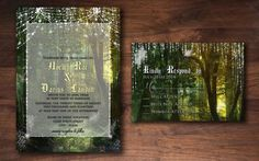 Fairy Dust Forest  Wedding Invitation Set by InvitationsbyBelle