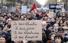 """Pendant la """"Marche républicaine"""" le 11 janvier 2015 à Paris"""