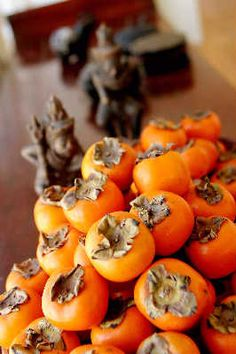 persimmons. Our tree is abundant.
