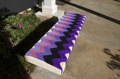 beautiful bench yarnbomb spotted in Hawaii