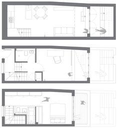 Small House - Winkley Workshop - Kirkwood McCarthy - Tim Crocker - London - Floor Plans - Humble Homes
