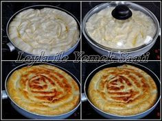 Leyla ile Yemek Saati: Tavada Sahte Su Böregi – Vejeteryan yemek tarifleri – The Most Practical and Easy Recipes Gourmet Recipes, Cooking Recipes, Bread And Pastries, Turkish Recipes, Mets, Beignets, C'est Bon, Crepes, Cooking Time