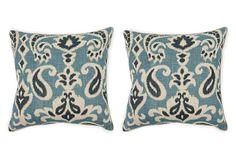 S/2 Martina 18x18 Pillows, Blue on OneKingsLane.com