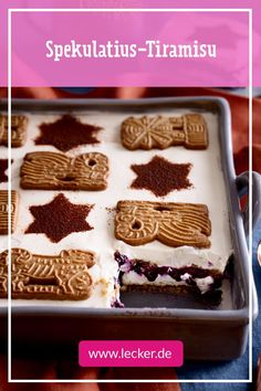 Speculaas tiramisu - recipe , Heavenly tasting speculoos tiramisu without eggs - but with lots of delicious blueberries! Since it is easy to prepare, we can also highly recommend t. Chocolate Cake Recipe Easy, Chocolate Cookie Recipes, Chocolate Chip Cookies, Healthy Chocolate, Easy Cheesecake Recipes, Easy Cookie Recipes, Dessert Recipes, Cake Mix Cookies, Cupcakes