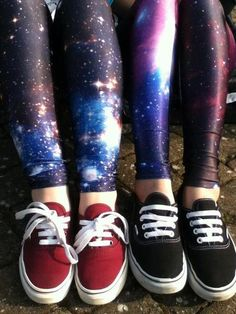 galaxy leggings and Vans