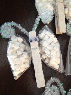 Marshmallow butterfly snacks